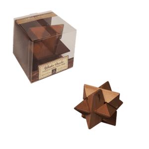 אחווה משחק חשיבה מעץ כוכב במארז למשרד