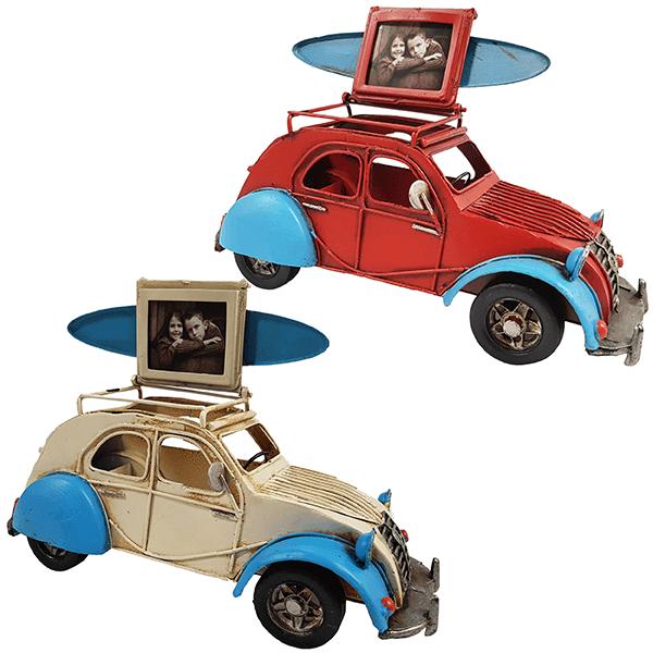 אלול מכונית בסגנון רטרו עם גלשן ומסגרת לתמונה. לבית ולמשרד