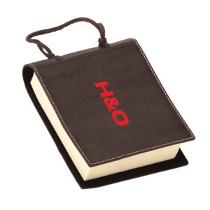 בלוק נייר עם עטיפת עור מתנה יוקרתית עם לוגו