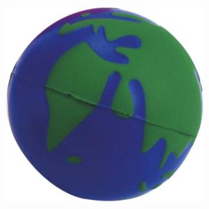 כדור גומי לחיץ ממותג בצורת כדור הארץ