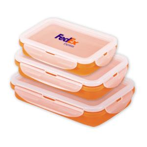 סט שלוש קופסאות אוכל ממותגות לעובדים