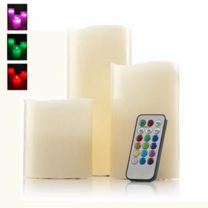 סט 3 נרות עם תאורת led מתנה מעוצבת