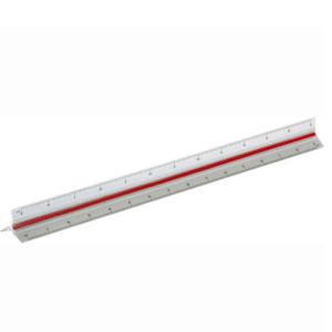 סרגל אדריכלים 30 סמ ממותג אריזת pvc