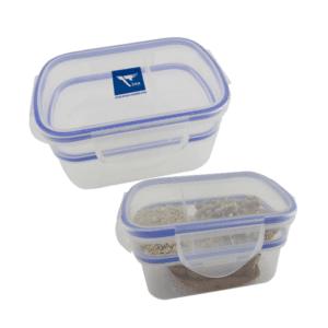 קופסת פלסטיק ממותגת מחולקת לשתי קומות