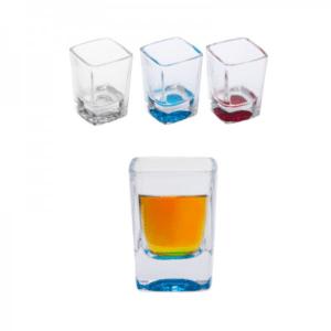 כוס שוט זכוכית ממותגת